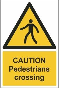 CAR027 - Caution, Pedestrians crossing