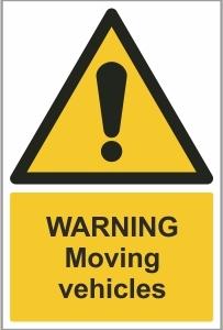 CAR031 - Warning, Moving vehicles