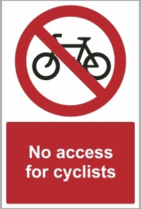 CAR033 - No access for cyclists