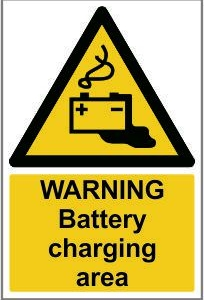 WAR011-Warning-Battery-charging area