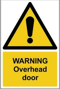 WAR014-Warning-Overhead-door