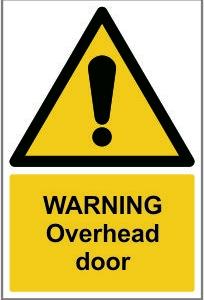 WAR014-Warning-Overhead-door