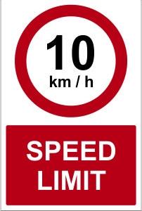 WAR023-Spee-dlimit-10kmh