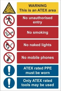 WAT001 - Warning, ATEX safety