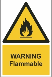 WAT004 - Warning, Flammable