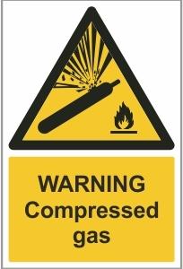WAT005 - Warning, Compressed gas