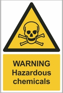 WAT007 - Warning, Hazardous chemicals