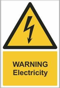 WAT008 - Warning, Electricity