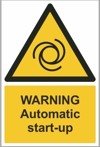 WAT012 - Warning, Automatic start-up