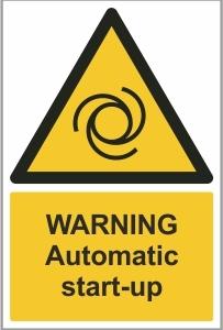 WAT012 - Warning, Automatic start-up