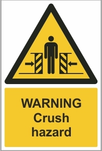 WAT013 - Warning, Crush hazard