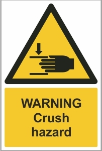 WAT014 - Warning, Crush hazard (hand)