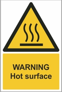 WAT015 - Warning, Hot surface