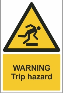 WAT017 - Warning, Trip hazard