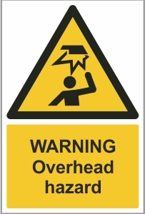 WAT018 - Warning, Overhead hazard