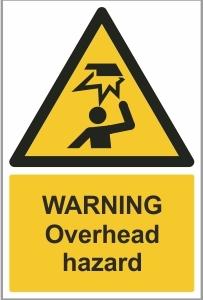 WAT018 - Warning, Overhead hazard