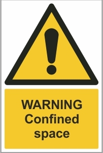 WAT019 - Warning, Confined space