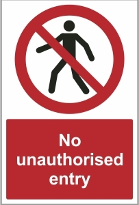 WAT020 - No unauthorised entry