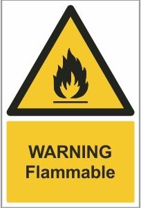 WAT004 - Warning, Flammable