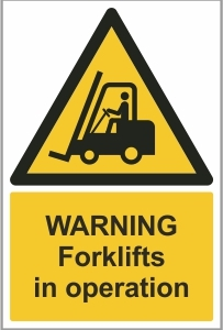 WAT011 - Warning, Forklifts in operation