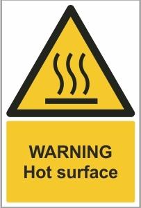 WAT015 - Warning, Hot surface