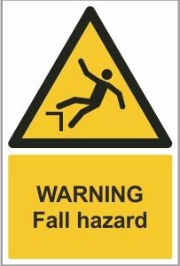 WAT016 - Warning, Fall hazard