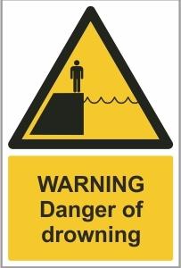 MAR002 - Warning, Danger of drowning