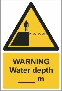 MAR003 - Warning, Water depth __m