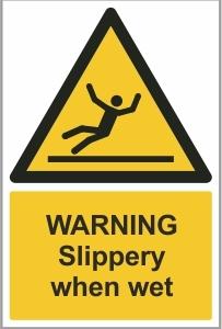 MAR006 - Warning, Slippery when wet