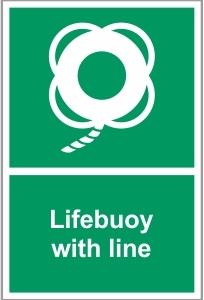 MAR018 - Lifebuoy with line