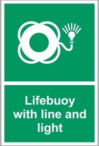 MAR019 - Lifebuoy with line and light