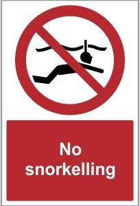 MAR013 - No snorkelling