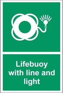 MAR019 - Lifebuoy with line and light