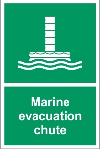 MAR035 - Marine evacuation chute