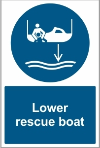 MAR039 - Lower rescue boat