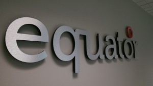 Equator brushed steel raised letters 2