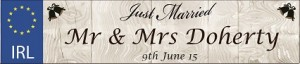 Wedding Car Plate Mr Mrs2