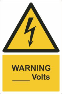 Warning - ____ Volts