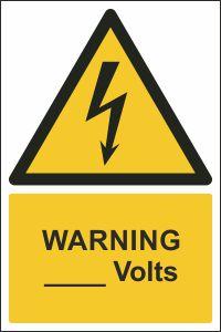 Warning - ____ Volts