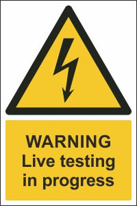Warning - Live Testing in Progress
