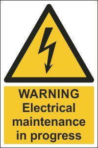 Warning - Electrical Maintenance in Progress