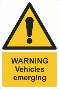 Warning - Vehicles Emerging