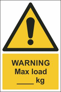 Warning - Max Load ___kg