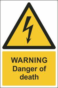 Warning - Danger of Death