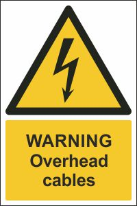Warning - Overhead Cables