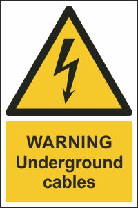 Warning - Underground Cables