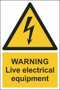 Warning - Live Electrical Equipment