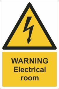 Warning - Electrical Room