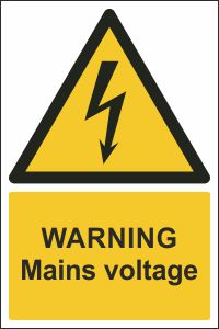 Warning - Mains Voltage