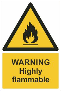 Warning - Highly Flammable
